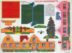 Villa et maisonnette . découpage sans collage !