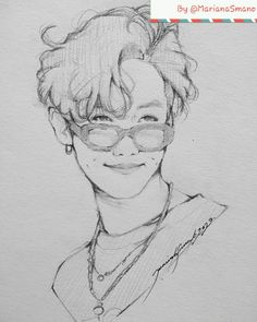 Kpop Drawings, Anime Girl Drawings, Art Drawings Sketches Simple, Realistic Drawings, Art Sketchbook, Jhope, Art Reference, Fan Art, Inspiration