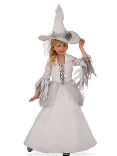 White Witch Sorceress Wizard Good Wicked Fancy Dress Up Halloween Child Costume White Witch Costume, Witch Dress, Witch Costumes, Girl Costumes, Children Costumes, Witch Hats, Classic Halloween Costumes, Halloween Fancy Dress, Halloween Costumes For Girls