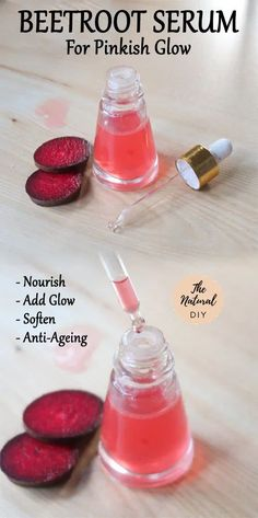 Are you in a lookout for an all natural skin glow serum? Here is a recipe for beetroot serum for pinkish glow that I recommend you try out – Clear Skin Face, Face Skin Care, Diy Skin Care, Homemade Skin Care, Homemade Beauty, Diy Natural Beauty Recipes, Lotion, Beauty Tips For Glowing Skin, Skin Care Routine Steps