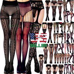 273ad4a9525 3 Women Pantyhose Socks Tights Stockings Opaque Sheer Hosiery Hose Plus Size  USA