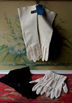 White gloves, worn to church on Sunday and even with Girl Scout dress uniforms.