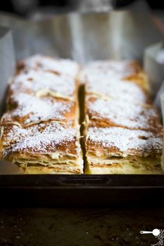 Karpatka, a Polish version of a vanilla custard slice, is made with sheets of choux pastry filled with a creamy, light layer of custard cream.