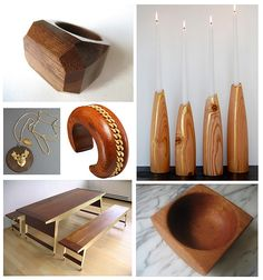 Things I Like Wood And Gold By Finestationery Via Flickr