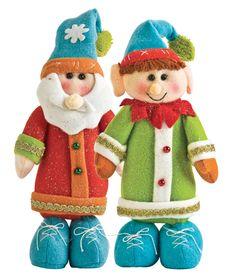Santa y Elf #Navidad #Deco #Hogar #Colores
