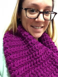 This chunky cowl crochet pattern uses a faux knit version of the puff stitch, free from Not Your Average Crochet