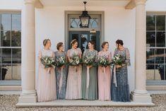 A Stephanie Allin Dress + Bridesmaids in Needle & Thread for a Botanical, Boho Barn Wedding in Norfolk Needle And Thread Bridal, Sussex Barn, Bridesmaid Dresses, Wedding Dresses, Bridesmaids, Maid Of Honor, Norfolk, Boho Dress, Our Wedding