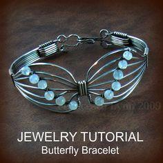 JEWELRY TUTORIAL  Butterfly Wire Wrapped Bracelet by FrancescaLynn