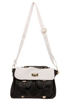 Beckie Contrast Two Pocket Day Bag at boohoo.com $46 #boohooboutique
