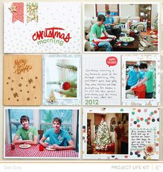 Project Life Christmas Morning by debduty at @Studio_Calico #SCcuppa