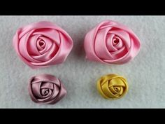 DIY ribbon rose tutorial,How to,fabric flowers,easy Ribbon Art, Diy Ribbon, Fabric Ribbon, Ribbon Crafts, Ribbon Rose, Easy Fabric Flowers, Diy Flowers, Diy Rose, Band Kunst