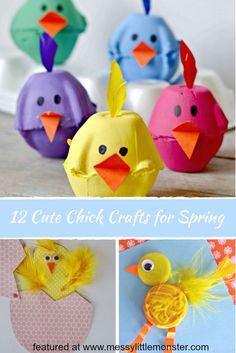 Cute Chick Crafts for Spring