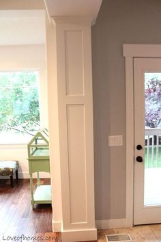 Dress up a plain archway- from dining room to kitchen entrance
