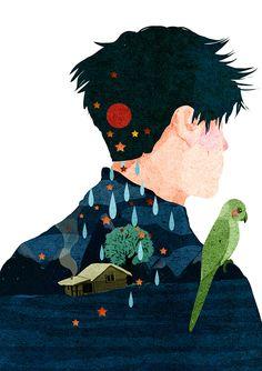 Uomo e natura nelle illustrazioni di Xuan loc Xuan | PICAME