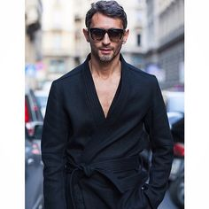 | Streetstyle: OBSESSED with this kimono-inspired top by the suave @marchettisimone wearing @ports1961menswear | #milan #canada #moda #model #dope #hot #jacket #fashion #suit #spain #dapper #igdaily #istanbul #london #instadaily #ootd #pakistan...