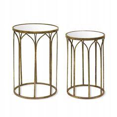 Stolik Metalowy Z Lustrem Zloty H 62cm Kwietnik 60 7660139866 Oficjalne Archiwum Allegro Side Table Home Decor Furniture