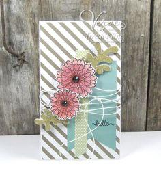 Handmade card by Teresa Kline using the Button Best set from Verve. #vervestamps