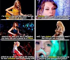 Taylor's teenage years in lyrics whoever made this is beautiful!!