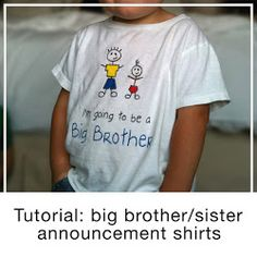 "The Blue Basket: Tutorial: ""I'm going to be a Big Brother!"" t-shirt"