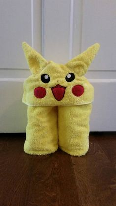Check out this item in my Etsy shop https://www.etsy.com/listing/261925642/pokemon-pikachu-hooded-towel-baby