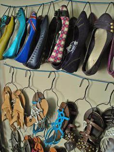 Hanging Storage System - 10 Clever Shoe Storage Solutions on HGTV