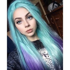 Pin by katia bourykina on hair hair styles, dyed hair, hair color. Hair Color Purple, Cool Hair Color, Pastel Goth Hair, Coloured Hair, Dye My Hair, Grunge Hair, Crazy Hair, Pretty Hairstyles, Lace Front Wigs