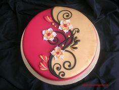 Inspiración ying yang para una tarta