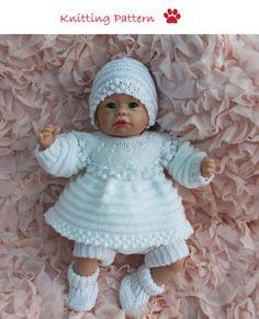 942ccaccbdca 60 Bobble Edge Angel Top Set to fit doll #knitting #dollclothes  #knitteddress #