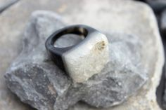 Druzy agate ring carved gemstone all stone chunky unique hand made us 9.75    eBay
