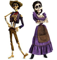 Hector and Imelda of Land of the Dead from Coco