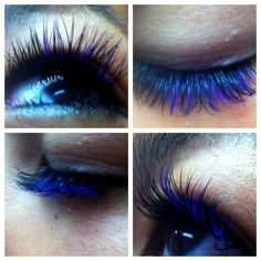 Blue and black c curl eyelash extensions Russian volume by Eva ...