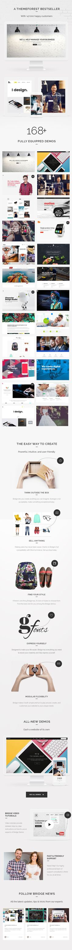 #What Our Customers are Saying     Main Features  BRIDGE is a retina multi-purpose WordPress theme built on the very powerful and flexible framework by QODE. You can easily import a... Download here:https://themeforest.net/item/bridge-creative-multipurpose-wordpress-theme/7315054?ref=classicdesignp