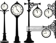 ベクトルアート : Street Clock