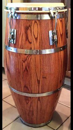 Vintage 1970's Ash Skin On Skin (SOS) Conga Drum (refinished by Angel Roldan - Conga MD)