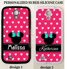 PINK HEART POLKA DOTS MOUSE MONOGRAM PHONE Case For Samsung Galaxy S7 S6 NOTE 5 #UnbrandedGeneric