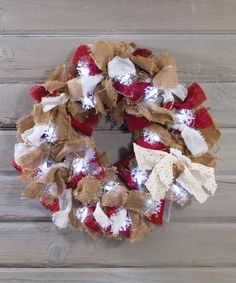 Look at this Burlap Light-Up Snowflake Wreath on #zulily today!