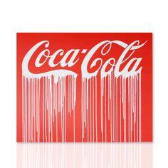 Quadro Coca Cola Stile Pop Art Declea Art Gallery Shop online: declea.com