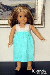 Jen from iCandy Handmade shows how to make a quick and easy pillowcase nightgown for an 18″ doll. The doll-sized nightgowns were inspired by the kid-sized pillowcase gowns she made for her d…