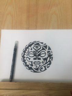 Maori style tattoo design idea art