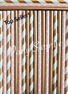 Rose Gold and Blush Straws Foil Straws, Stir Sticks, Striped Metallic Straws Paper Straws Wedding Birthday Party Bridal Shower Straws Balloon Show, Balloon Arch, The Balloon, Hot Air Balloon, Table Confetti, Confetti Balloons, Wedding Confetti, Paper Straws