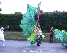 Sea monster carnival costume