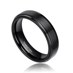 Free Shipping 6mm Brush Polished Tungsten Mens Womens Bands  Comfort Fit Design Men's Black Tungsten Wedding Ring 5#-15#
