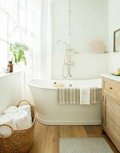 Rangement salle de bain on pinterest bathroom - Petite salle de bain zen ...
