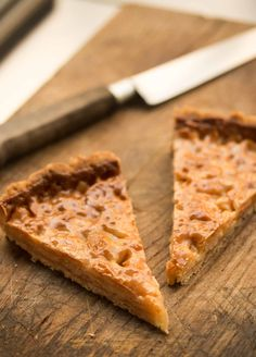 The famous Chez Panisse almond tart, deliciously caramelized almonds in a buttery crust