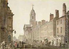 Thomas Malton, Jnr.:St Georges Hanover Square London 1780s