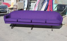 Bold Purple Danish Space Age Sofa | From a unique collection of antique and modern sofas at https://www.1stdibs.com/furniture/seating/sofas/