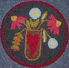 Rug Hooking Chair Pads On Pinterest