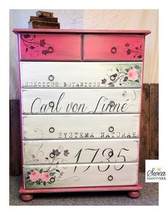 "Inspiration in chalk paint - American Paint Company. Love the color ""Mama's Lipstick""."