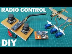 How to make a low cost 4 channel radio control for RC model aircraft, drone, cars and boats. Construction of remote controls with proportional controls, whic. Hobby Electronics, Electronics Projects, Arduino Remote Control, Rc Model Aircraft, Rc Controller, Arduino Programming, Electronic Circuit Projects, Raspberry Pi Projects, Gaming Setup