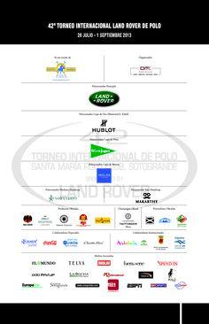 Sponsors 42 International Land Rover Polo Tournament / Patrocinadores 42 Torneo Internacional Land Rover de Polo.  #PoloSotogrande